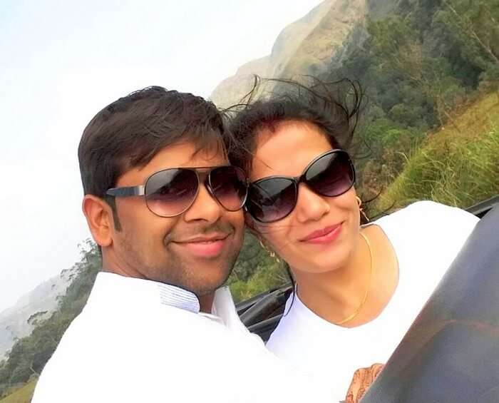 Vishu and Prachi at the Wildlife Sanctuary