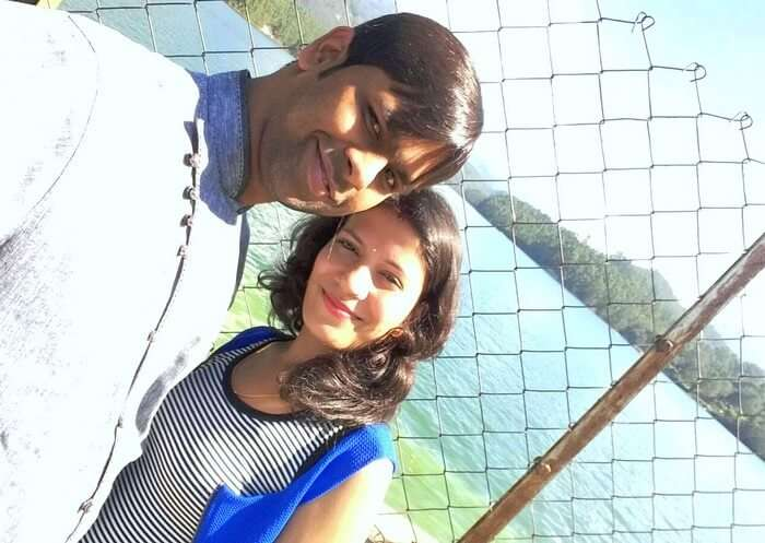 Vishu and Prachi at Mattupetty Dam