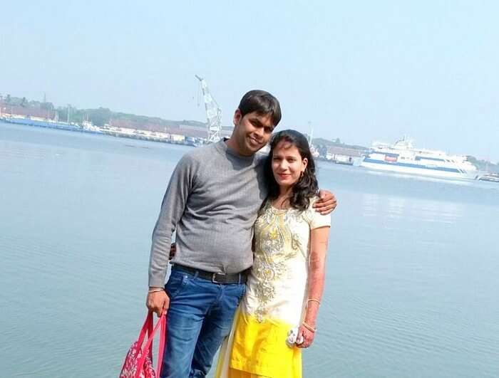 Vishu and Prachi in Marine drive in Kochi