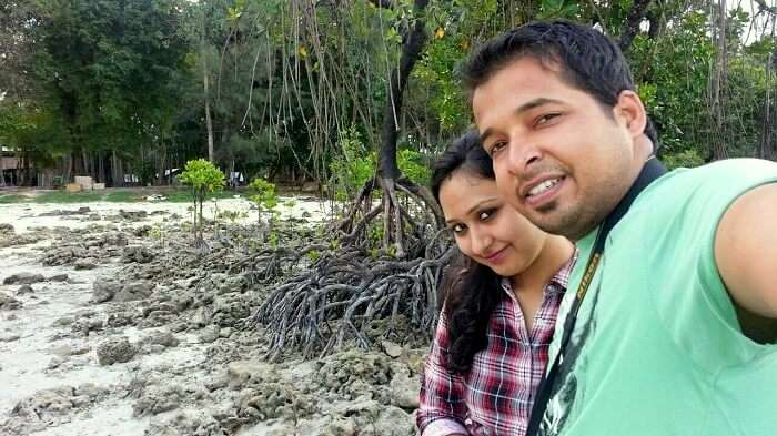 Agam and his wife in Port Blair