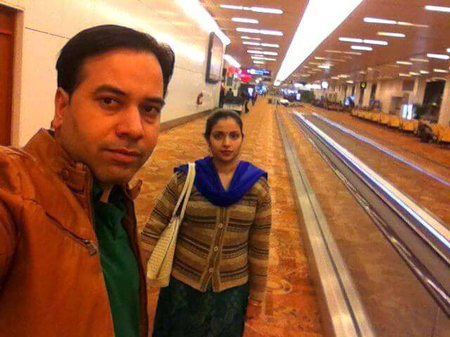 Kapil and his wife in Dubai