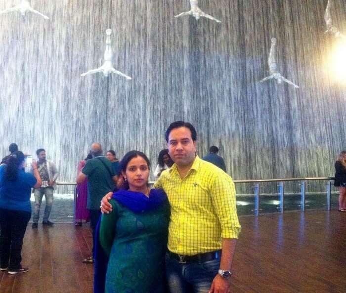 Kapil and his wife roaming around in Dubai