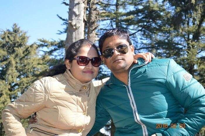 Madhumita and her husband sightseeing in Manali