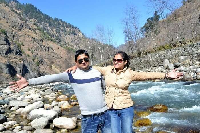 Madhumita and her husband in Manali