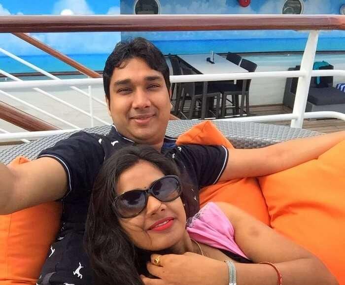 Kavya and Ram on the Star cruise