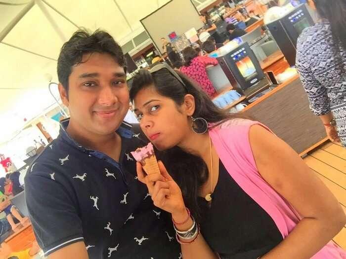 Ram and Kavya enjoying in Singapore