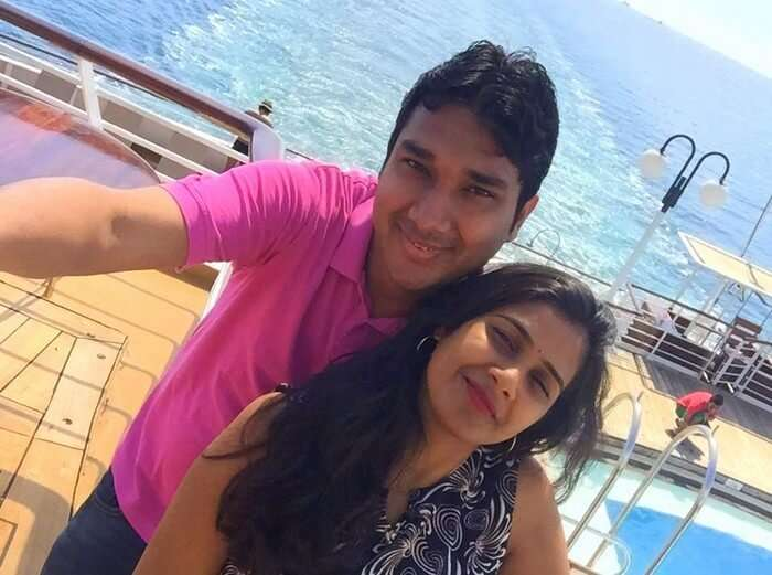 IRam and Kavya on the Star Cruise in Singapore