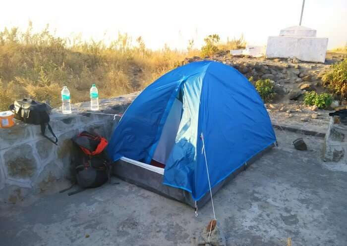 Camping at the top of Hathgarh Fort