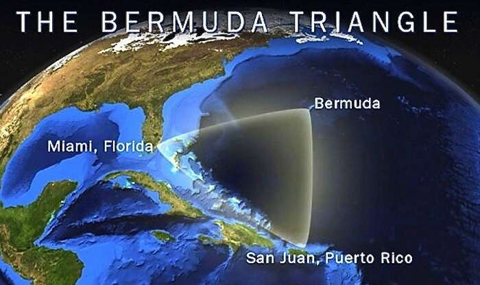 The exact location of Bermuda Triangle is in North Atlantic Ocean