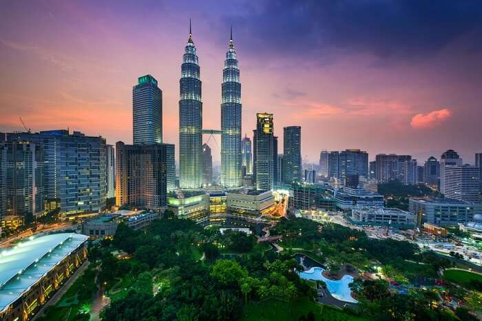 Petronas Tower overlook the beautiful city of Kuala Lumpur