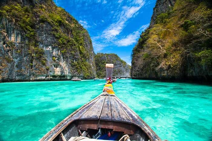 Exploring the Phi Phi Islands on your own catamaran is one of the top things tourists do in Krabi
