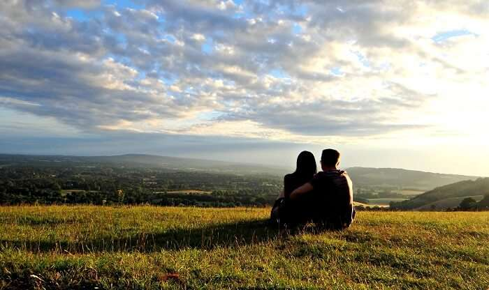 A couple basking in the charms of one of the most romantic places in Pune