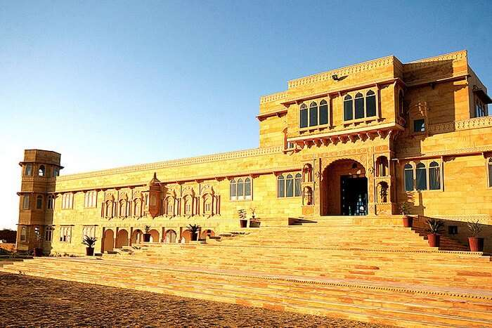 The grand Thar Vilas is a majestic hotel in the heart of the desert in Rajasthan
