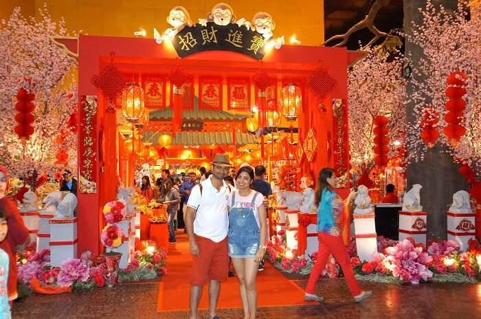 Bhargav and his wife in Genting Island Malaysia