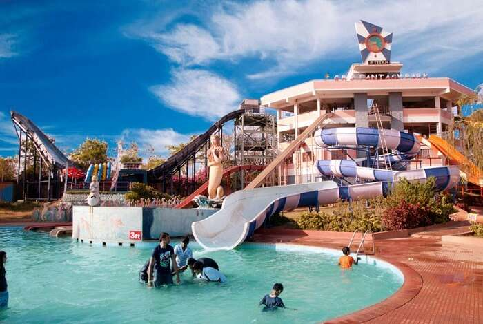 One of the water rides at the GRS Fantasy Park in Mysore