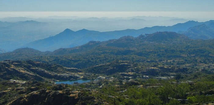 The magnificent view from Guru Shikhar Peak in Mount Abu