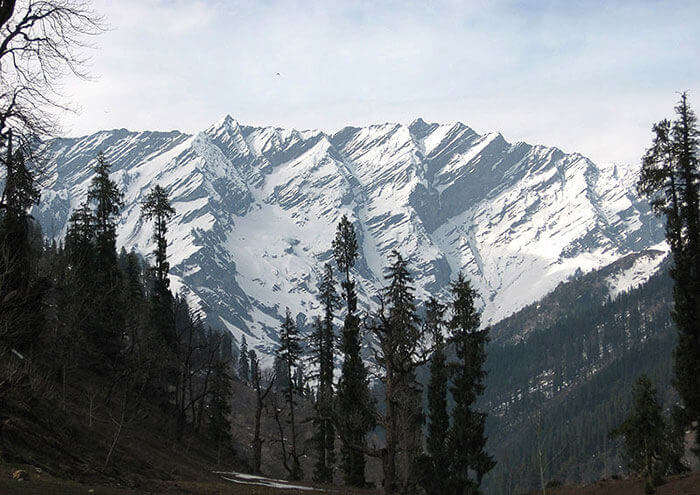 The Pir Panjal Range, as seen from the Mall Road in Dalhousie