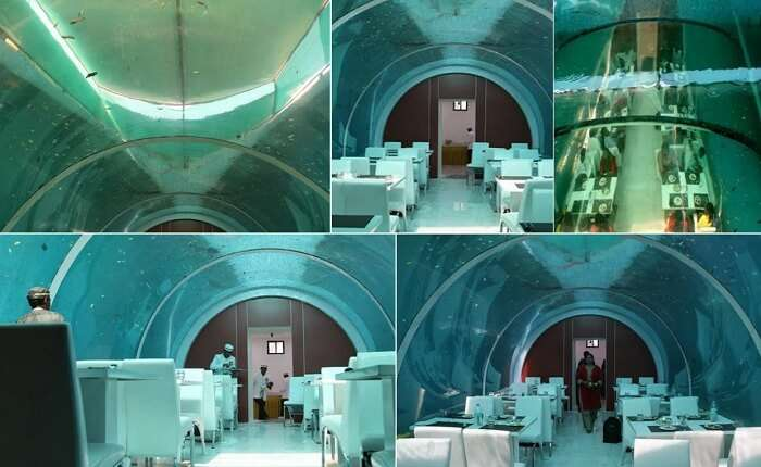 Many views of the insides of the Real Poseidon Restaurant
