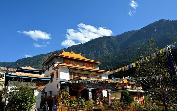 One of the famous monasteries in Manali