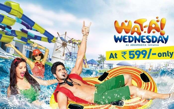 Wat-A Wednesday package available at Aquamagica - one of the best water parks in India