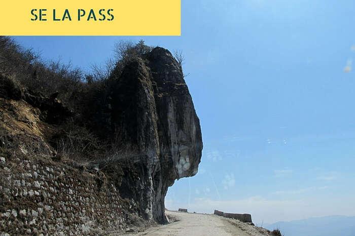 A snap of the dangerous Se La Pass in the Tawang district of Arunachal Pradesh
