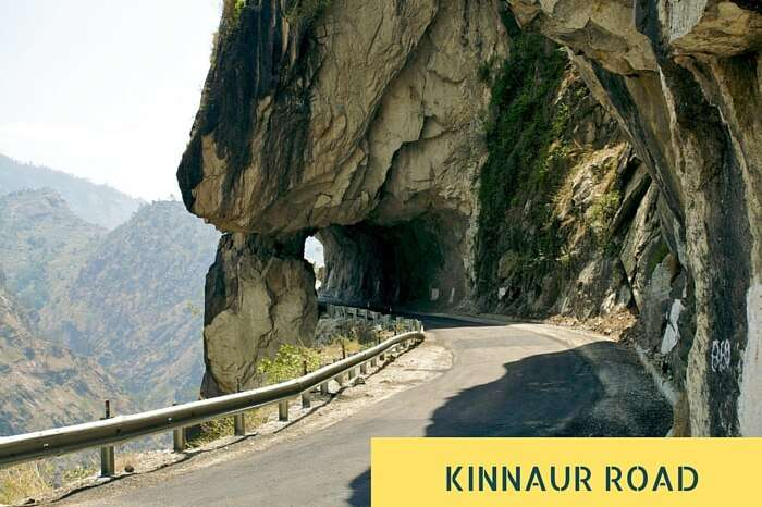 One of the many narrow dark holes and blind turns on the Kinnaur Road
