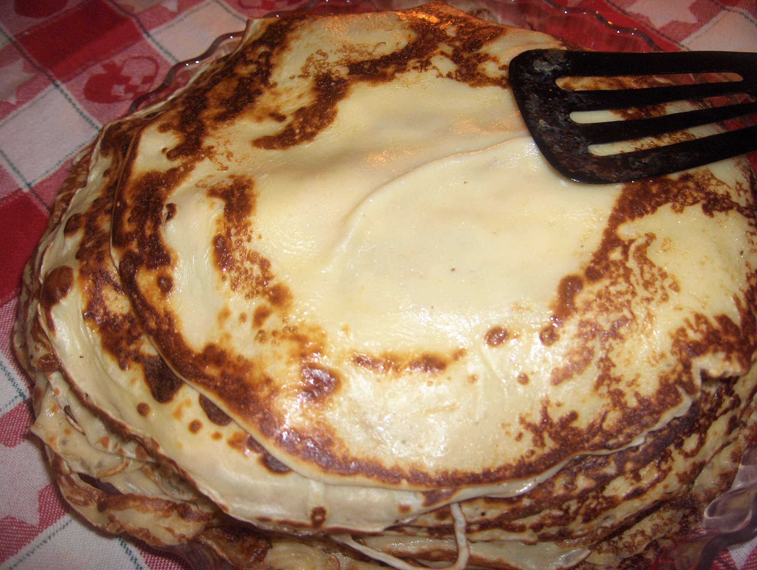 Heap of chocolate pancakes
