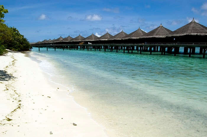 Beautiful sea-huts at Kadmat Island in Lakshadweep