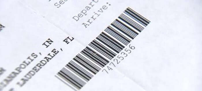 Picture showing barcode on the boarding pass