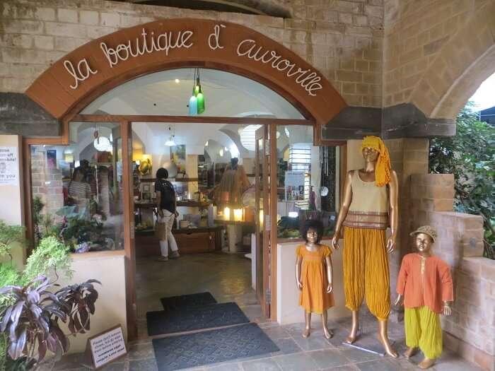 The La Boutique d'Auroville shopping centre in the Pondicherry precincts