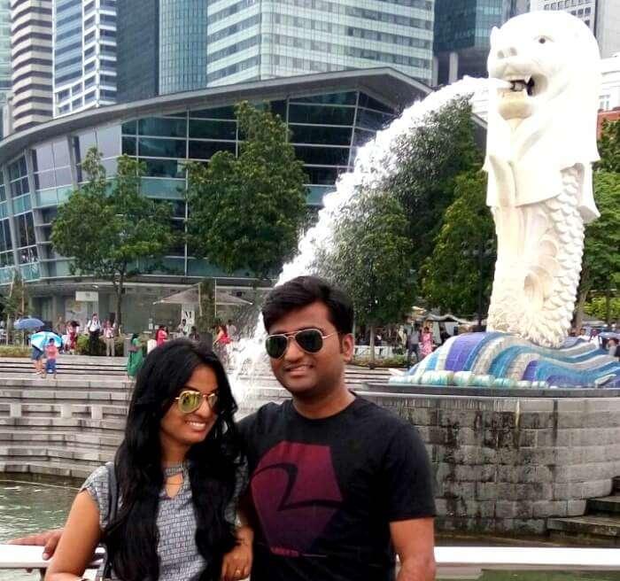 Merilion park in Singapore also a symbol of Singapore