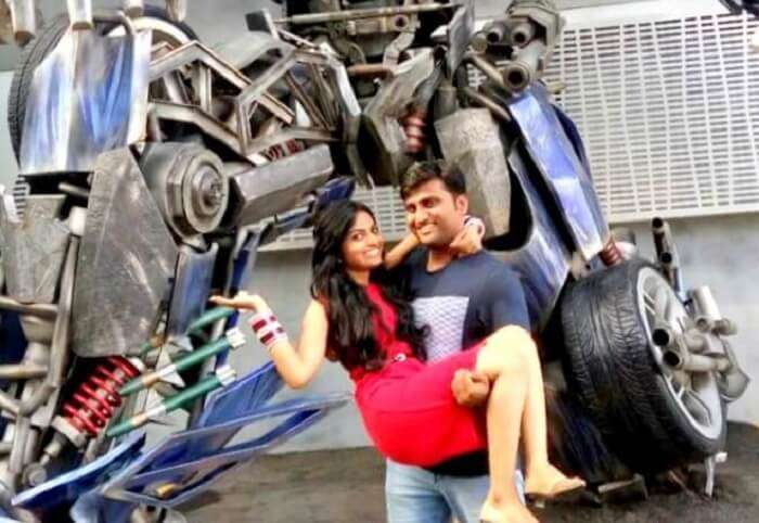 The amazing Transformer ride in Universal Studios