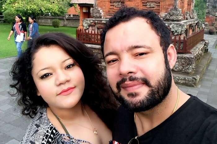 Ritika and her husband in Bali