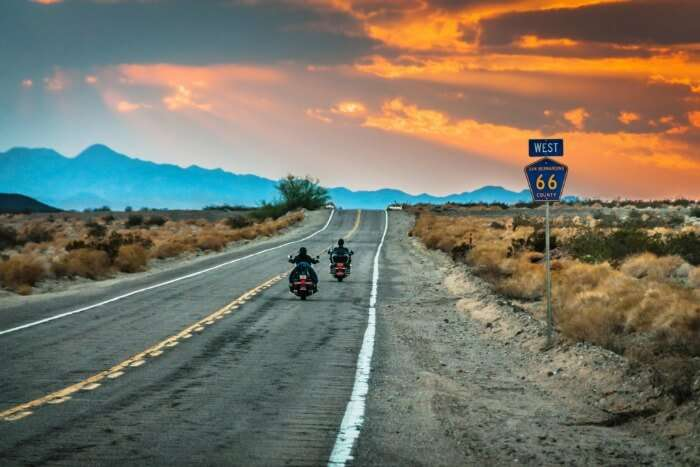 Take the famed Route 66 and explore the gems of USA