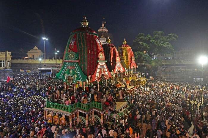 The annual Chariot pulling ceremony of Lord Jagannatha at Puri