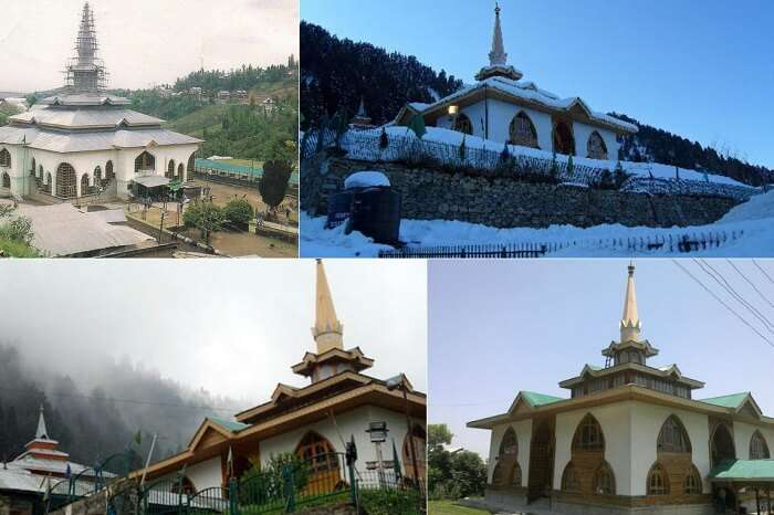 Many views of the Shrine of Baba Reshi in Gulmarg