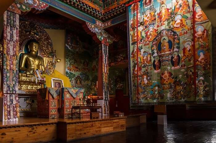 The colorful Tibetan Buddhist temple is a famous place to visit in Mussoorie