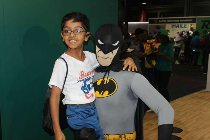 Shreyan relishing the company of Batman