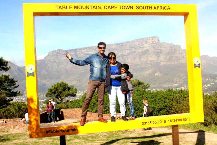 Shivaramakrishnan family at Camps Bay