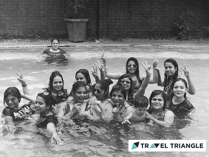 Girls having fun at the pool in Myrica Resort