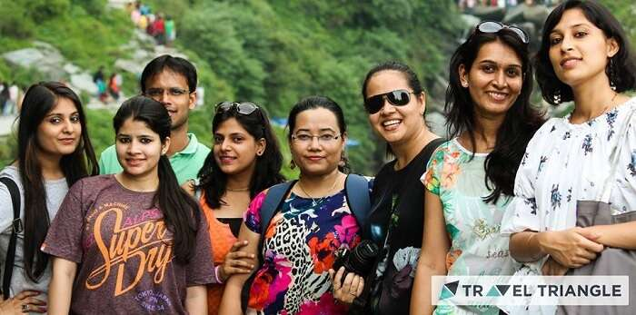 Aditi and her friends in McLeodganj