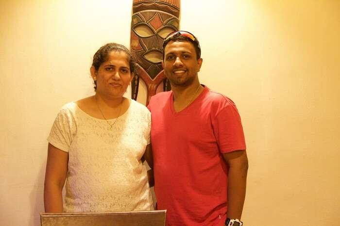 Jeevan and his wife in Germany