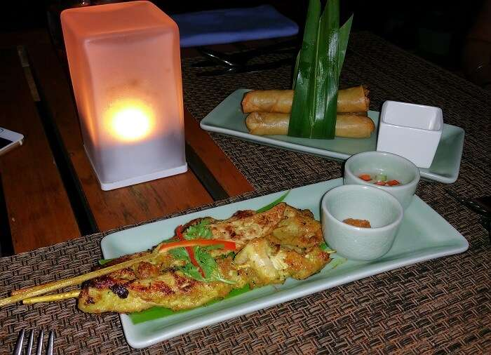 Food at Centara Ras Fushi Resort in Maldives