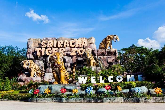 The entrance of the Sriracha Tiger Zoo near Pattaya