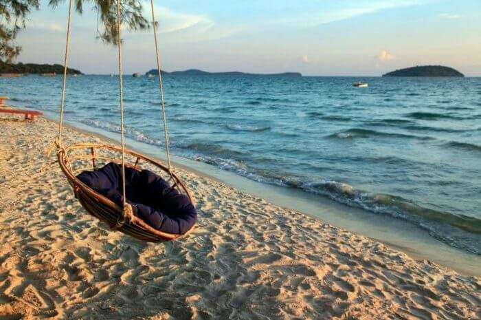 The laid-back beach of Sihanoukville in Cambodia