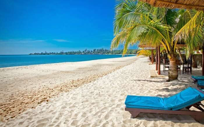 Relax and unwind along the sandy shores of the beaches in Sihanoukville