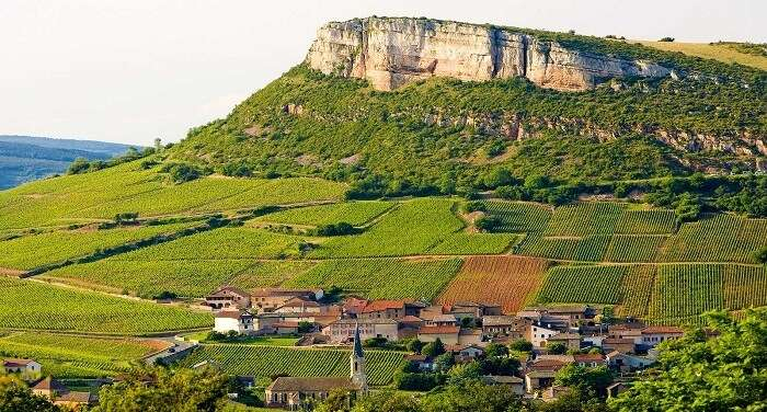 The picturesque location of Burgundy in France