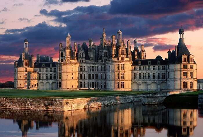 A beautiful evening at Chambord in France