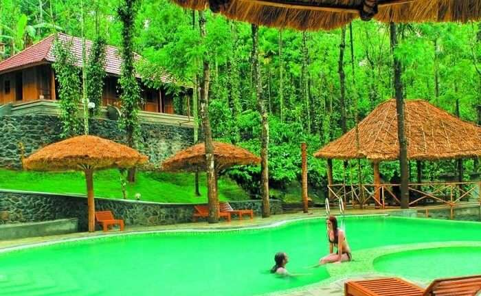 Citrus Thekkady Wild Corridor is one of the best resorts in Thekkady with a private emerald pool