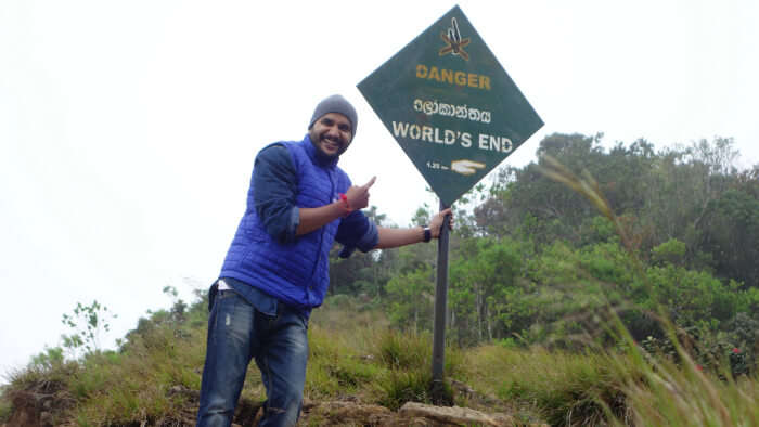 End of the trek at World's End point